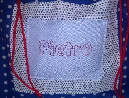 Pietro's sack - detail