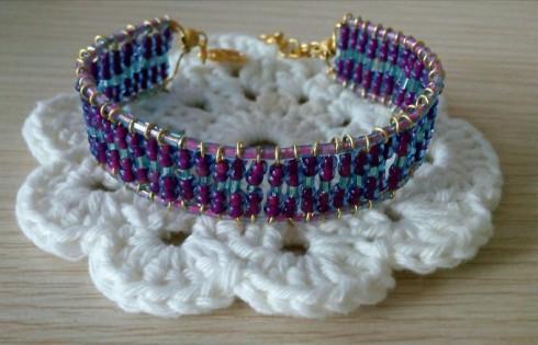 Purple beads bracelet